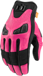 Icon Motosports Women's AUTOMAG 2 Leather Touchscreen Gloves (Pink)