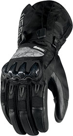 ICON Patrol Waterproof Leather/Textile Motorcycle Gloves (Black)