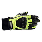 ALPINESTARS Arctic Hi-Viz Drystar Motorcycle Gloves (Black/Yellow)