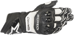 Alpinestars GP PRO R3 Leather Road Racing Gloves (Black/White)