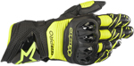 Alpinestars GP PRO R3 Leather Road Racing Gloves (Black/Fluo Yellow)
