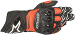 Alpinestars GP PRO R3 Leather Road Racing Gloves (Black/Fluo Red)