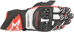 Alpinestars GP PRO R3 Leather Road Racing Gloves (Black/White/Bright Red)