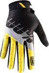 100% MX Motocross RIDEFIT Max Gloves (Yellow/Grey/Black)
