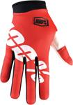 100% MX Motocross I-TRACK Fire Red Gloves (Red)