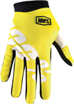 100% MX Motocross I-TRACK Neon Yellow Gloves (Neon Yellow)