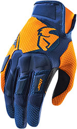 THOR MX Motocross 2015 FLOW Gloves (Navy/Orange)