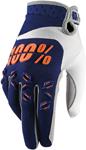 100% MX Motocross AIRMATIC Gloves (Navy/Orange)
