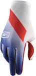 100% MX Motocross CELIUM Slant Gloves (Blue/White/Red)