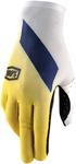 100% MX Motocross CELIUM Slant Gloves (Yellow/White/Blue)