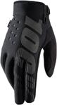 100% MX Motocross BRISKER Gloves (Black)