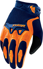 THOR MX Motocross 2016 SPECTRUM Gloves (Navy/Orange)