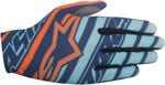 ALPINESTARS MX Motocross Offroad DUNE Gloves (Navy/Turquoise/Orange)