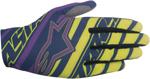 ALPINESTARS MX Motocross Offroad DUNE Gloves (Navy/Lime Green/Purple)