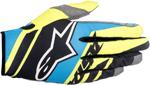 ALPINESTARS MX Motocross Offroad SUPERMATIC Gloves (Black/Blue/Yellow Fluo)