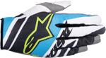 ALPINESTARS MX Motocross Offroad SUPERMATIC Gloves (Black/Cyan/White)