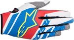 ALPINESTARS MX Motocross Offroad SUPERMATIC Gloves (Blue/Red/White)