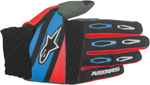 ALPINESTARS MX Motocross Offroad FACTORY Gloves (Black/Red/Blue)
