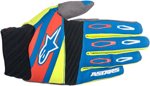 ALPINESTARS MX Motocross Offroad FACTORY Gloves (Blue/Yellow Fluo/Red)