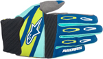 ALPINESTARS MX Motocross Offroad FACTORY Gloves (Navy/Turquoise/Lime)