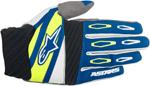 ALPINESTARS MX Motocross Offroad FACTORY Gloves (Navy/White/Yellow Fluo)
