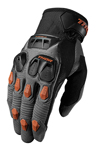 THOR MX Motocross Men's 2017 DEFEND Gloves (Charcoal/Dark Orange)