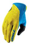 THOR MX Motocross Men's 2017 DRAFT Gloves (INDI Yellow/Blue)