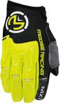 MOOSE Racing MX Motocross Men's 2017 MX1 Gloves (Hi-Viz Yellow/Black)