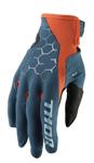 Thor MX Motocross Men's Draft Gloves (Slate/Red Orange)