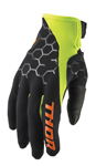 Thor MX Motocross Men's Draft Gloves (Black/Acid)