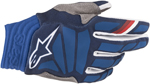 Alpinestars MX Motocross Aviator Gloves (Dark Blue/White)