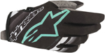 Alpinestars MX Motocross Radar Gloves (Black/Teal)
