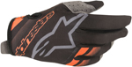 Alpinestars MX Motocross Radar Gloves (Black/Orange Fluo)