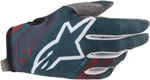 Alpinestars MX Motocross Radar Gloves (Petrol/Maroon)