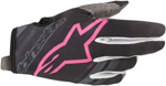 Alpinestars MX Motocross Radar Gloves (Dark Navy/Pink Fluo)