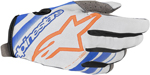 Alpinestars MX Motocross Radar Gloves (Cool Gray/Mid Blue/Orange Fluo)