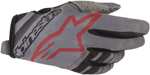 Alpinestars MX Motocross Radar Gloves (Gray/Black/Burgundy)