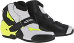Alpinestars 2016 SMX-1 R Vented Low-Cut Motorcycle Riding Boots (Black/White/Yellow)