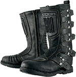 ICON Ladies 1000 Elsinore Leather Motorcycle Boots (Black)