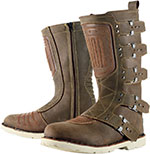 ICON 1000 Elsinore Leather Motorcycle Boots (Brown)