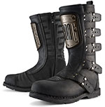 ICON 1000 ELSINORE HP Leather Motorcycle Boots (Black)