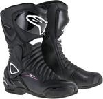 Alpinestars Women's Stella SMX-6 V2 Drystar Riding Boots (Black/White/Pink)
