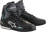 Alpinestars Women's Stella FASTER-3 Street Riding Shoes (Black/Gray/Blue)
