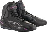 Alpinestars Women's Stella FASTER-3 Street Riding Shoes (Black/Pink)