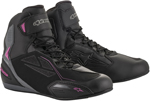 Alpinestars Women's Stella FASTER-3 Drystar Street Riding Shoes (Black/Gray/Pink)