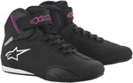 Alpinestars Women's Stella SEKTOR Street Riding Shoes (Black/Pink)