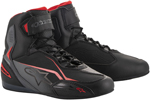 Alpinestars FASTER-3 Street Riding Shoes (Black/Gray/Red)