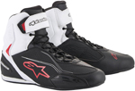 Alpinestars FASTER-3 Street Riding Shoes (Black/White/Red)