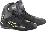 Alpinestars FASTER-3 Drystar Street Riding Shoes (Black/Gray/Fluo Yellow)