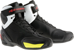 Alpinestars SP-1 Road Racing Street Motorcycle Shoes (Black/White/Red/Yellow)